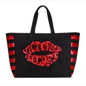 NWT Victoria's Secret Sequin Logo Tote Bag
